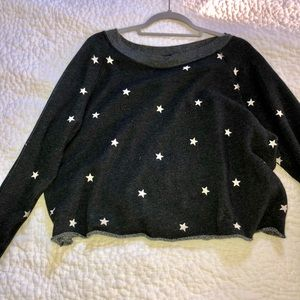 Star cropped sweatshirt